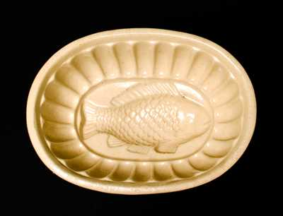 Yellowware Fish Mold