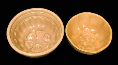 (2) Yellowware Flower Molds