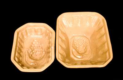 (2) Yellowware Grapes Molds