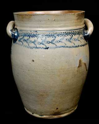 Early Baltimore Open-handled Stoneware Jar