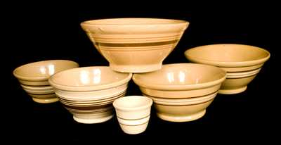 Lot of 6 Yellowware Bowls