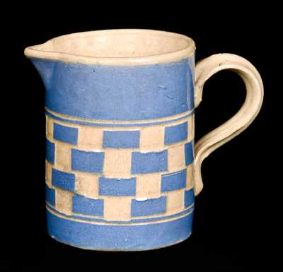 Small Mocha Checkerboard Pitcher Dated 1859
