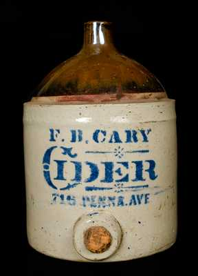 F. B. Cary Baltimore Stoneware Jug Cooler