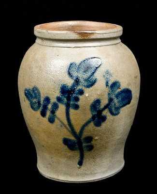 Scarce 1/2 Gal. Stoneware Jar att. Lowndes Petersburg, VA