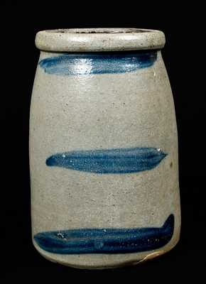 Western PA Stoneware Striped Canning Jar