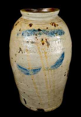 LIBERTY FOREV / WARNE & LETTs 1807 / S. AMBOY. N. JERSY Stoneware Jar