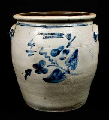 MOORE, NICHOLS & CO. / Williamsport, PA Stoneware Jar