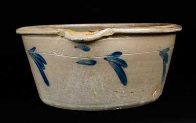 Pennsylvania Stoneware Milkpan, attrib. Grier, Chester County
