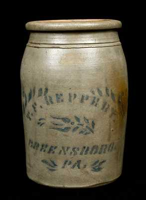 T.F. REPPERT. / GREENSBORO, PA Stoneware Jar