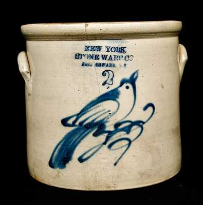NEW YORK / STONEWARE CO. / FORT EDWARD, N.Y. Bird Crock