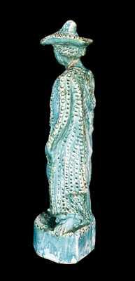 Shenandoah Valley Redware Figure, Signed