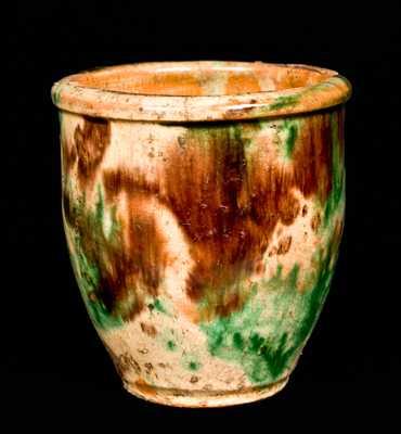 Multi-Glazed Redware Jar, S. Bell & Son, Strasburg, VA