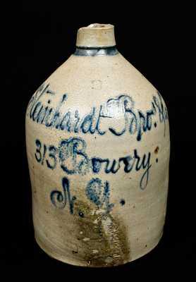 Bowery, New York Stoneware Script Jug