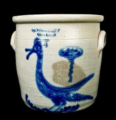 M. WOODRUFF / CORTLAND Stoneware Cream Jar w/ Gooney Bird