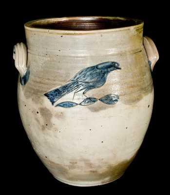 Manasquan, New Jersey Stoneware Bird Crock