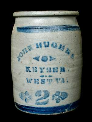 Keyser, WV Stoneware Advertising Jar