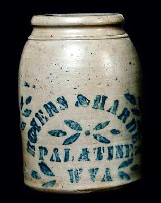 BOYERS & HARDEN / PALATINE / WVA Stoneware Wax Sealer