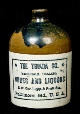 Baltimore, MD Stoneware Advertising Jug, TRIACA