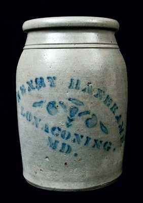Lonaconing, MD Stoneware Advertising Jar