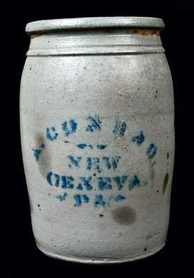 A. CONRAD / NEW / GENEVA / PA Stoneware Jar