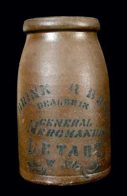 Letart, WV Advertising Stoneware Canning Jar