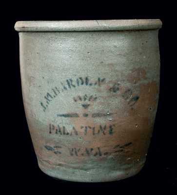 J.M. HARDEN & CO / PALATINE / W.VA. Stoneware Jar