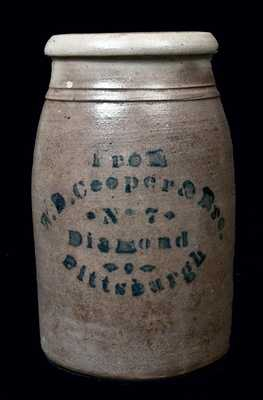 W.D. Cooper & Bro. / Pittsburgh Stoneware Jar