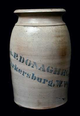 A.P. DONAGHHO / Parkersburg, W. Va Canning Jar