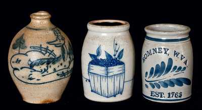(3) Reproduction Stoneware Pieces
