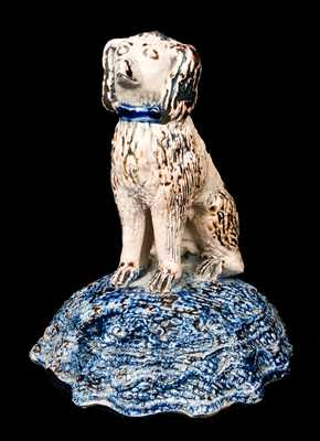 Stoneware Dog Figure, probably Midwestern, possibly Texarkana