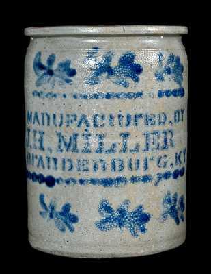 MAnUFACtUrED, BY / J.H. MILLER / BrAnDEnBUrG, KY Stoneware Jar