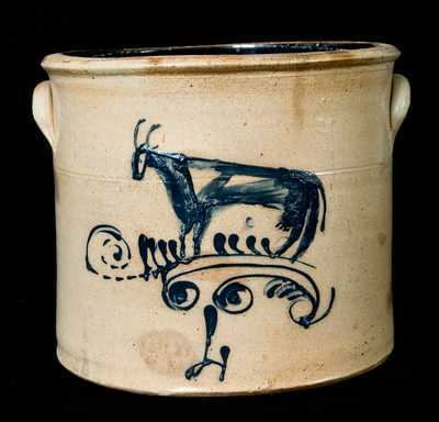 Ohio Stoneware Crock w/ Cow