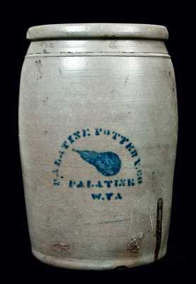 PALATINE POTTERY CO. / PALATINE / W.VA Pear Crock