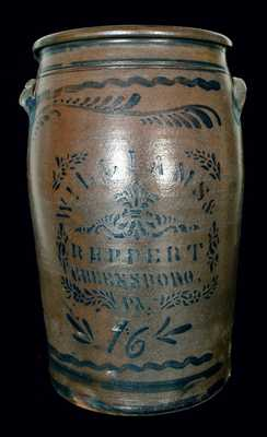 WILLIAMS & REPPERT / GREENSBORO, PA 16-Gallon Stoneware Crock