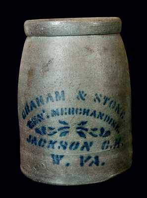 Jackson Courthouse, WV Stoneware Canning Jar