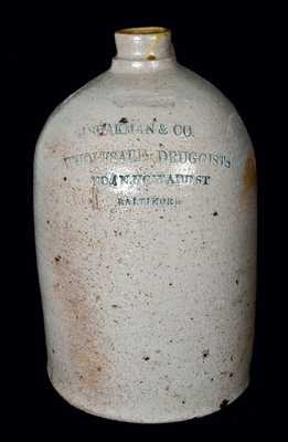 Baltimore Stoneware Advertising Jug