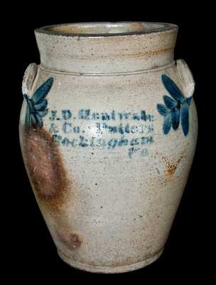 J.D. Heatwole / & Co. Potters / Rockingham / Va Stoneware Jar