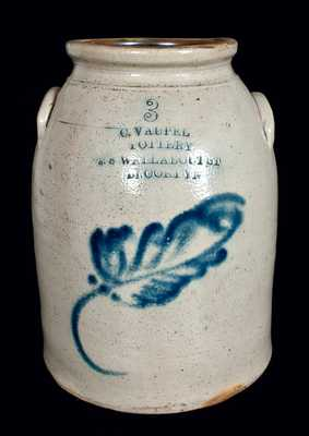 C. VAUPEL / POTTERY / 78 WALLABOUT ST / BROOKLYN Stoneware Jar