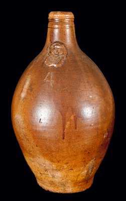 Stoneware Beardman Jug, German, circa 1650