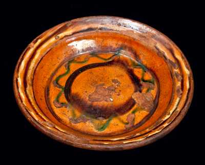 Redware Dish, probably Pennsylvania
