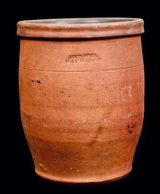 JOHN BELL / WAYNESBORO, Pennsylvania Redware Jar
