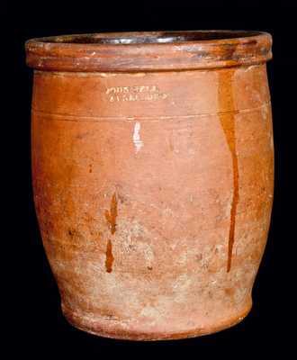 JOHN BELL / WAYNESBORO Redware Jar