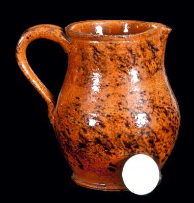 Miniature Redware Pitcher, probably PA