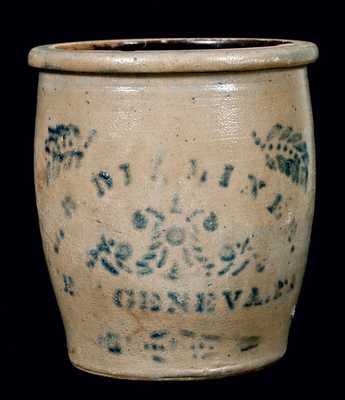 L.B. DILLINER / NEW GENEVA, PA Stoneware Jar
