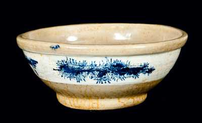 Yellowware Bowl w/ Mocha Seaweed Decoration