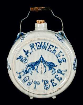 BARDWELL'S ROOT BEER (Whites Utica) Stoneware Canteen