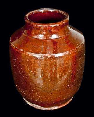 Redware Tobacco Jar