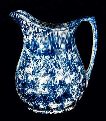Blue Rockingham Wash Pitcher