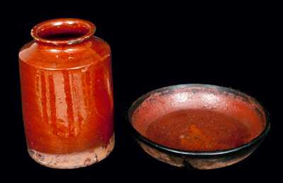 (2) Pieces of Redware