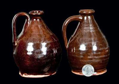 Pair of Miniature Redware Jugs